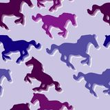 Seamless horse pattern Stock Photography