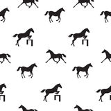 Seamless horses Stock Image