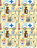 Seamless hospital pattern Royalty Free Stock Photos