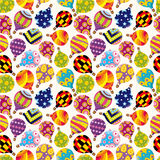 Seamless Hot air balloon pattern Stock Photo