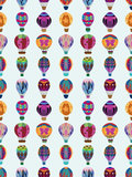 Seamless hot air balloon pattern Royalty Free Stock Photography