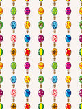 Seamless Hot air balloon pattern Stock Images