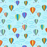 Seamless hot air balloon pattern Stock Photos