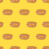 seamless Hot dog pattern Royalty Free Stock Photos
