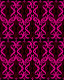 Seamless hot pink black Stock Images