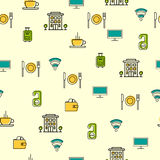 Seamless with hotel icons vector illustration