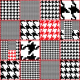 Seamless hound's tooth patchwork Royalty Free Stock Images