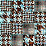Seamless Hounds-tooth pattern Royalty Free Stock Images