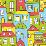 Seamless House Background Royalty Free Stock Photography