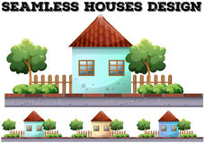 Seamless house design on the road Royalty Free Stock Photography