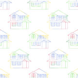 Seamless Of House Outlines Royalty Free Stock Image