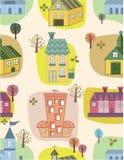 Seamless house pattern Stock Photos