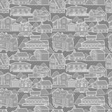 Seamless house pattern Stock Photography