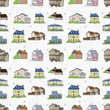 Seamless house pattern Royalty Free Stock Photos