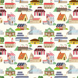 Seamless house pattern. Vector drawing Royalty Free Stock Photos
