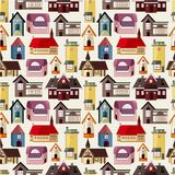 Seamless house pattern Stock Images