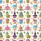 Seamless house pattern Royalty Free Stock Image