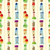 Seamless house pattern Stock Image