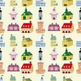 Seamless house pattern Royalty Free Stock Photo