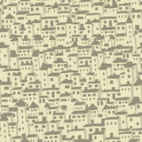 Seamless houses background. Repeat pattern Royalty Free Stock Photography