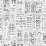 Seamless houses pattern Royalty Free Stock Images