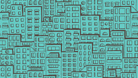 Seamless houses pattern Stock Images