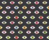 Seamless Human Eyes Pattern Royalty Free Stock Image