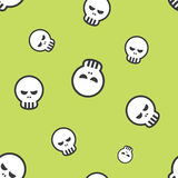 Seamless Human Skull Pattern Stock Images
