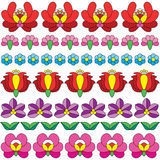 Seamless Hungarian folk art pattern - floral Kalocsai embroidery Royalty Free Stock Images