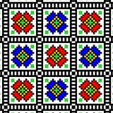 seamless. Hutsul embroidery print template for fabric and paper.  Vector Seamless pattern in Ukrainian folk art style with ethnic ornament. Hutsul  pattern and Royalty Free Stock Photos