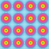 Seamless hypnotic rainbow pattern Royalty Free Stock Photos