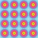 Seamless hypnotic rainbow pattern Royalty Free Stock Photos