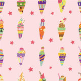 Seamless ice cream pattern Royalty Free Stock Image