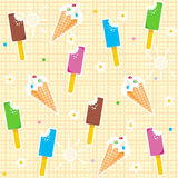 Seamless ice cream pattern Stock Photo