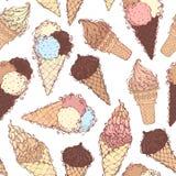 Seamless ice-cream pattern. Stock Photos