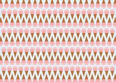 Seamless ice cream pattern Royalty Free Stock Photo