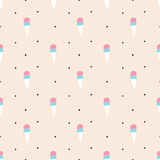 Seamless ice cream pattern. Seamless pattern, ice cream vector art  background design for fabric and decor Royalty Free Stock Photography