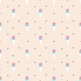 Seamless ice cream pattern Royalty Free Stock Photography