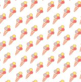 Seamless ice cream pattern, ice-cream vector, ice cream backgrou Royalty Free Stock Photo