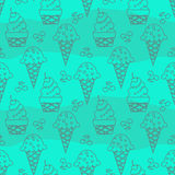 Seamless ice cream pattern Royalty Free Stock Images