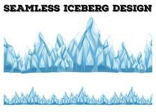 Seamless iceberg design with high peaks Stock Image