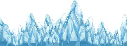 Seamless iceberg with sharp points Stock Photos