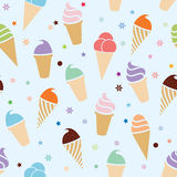 vector seamless icecream pattern Royalty Free Stock Images
