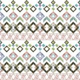 Seamless Ikat ethnic Pattern. Abstract background for textile design, Wallpaper, surface textures. Seamless Ikat ethnic Pattern. Abstract background for textile Royalty Free Illustration