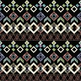 Seamless Ikat ethnic Pattern. Abstract background for textile design, Wallpaper, surface textures. Royalty Free Stock Photo