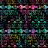 Seamless Ikat ethnic Pattern. Abstract background for textile design, Wallpaper, surface textures. Seamless Ikat ethnic Pattern. Abstract background for textile Vector Illustration