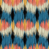 Seamless Ikat Pattern. Stock Images