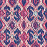 Seamless Ikat Pattern royalty free stock photos
