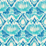 Seamless Ikat Pattern. Royalty Free Stock Photo