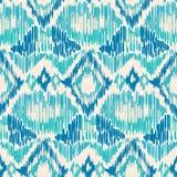 Seamless Ikat Pattern. royalty free stock photo